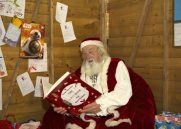 Father Christmas checking to see who has been good